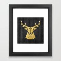 Geometry Of A Deer Framed Art Print