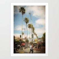 Sf Palm Trees Art Print
