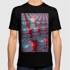 Robot Cinema Mens Fitted Tee Black SMALL