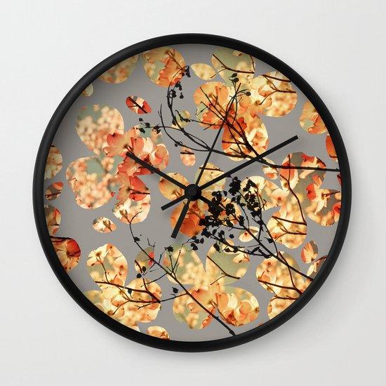 Dogwood Quilt Wall Clock