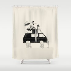 Going by Elephant Shower Curtain