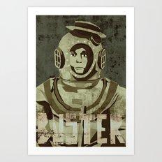 Buster Keaton - the legend Art Print