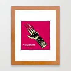 A NIGHTMARE POWER GLOVE Framed Art Print