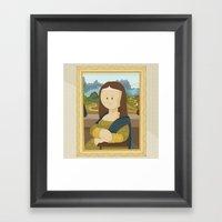 Gioconda By Leonardo Da … Framed Art Print