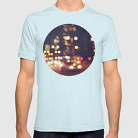 San Francisco Blur Mens Fitted Tee Light Blue SMALL