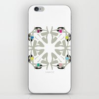 Weekend Girls Repeat Illustration iPhone & iPod Skin