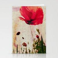 Heavy Poppy Stationery Cards