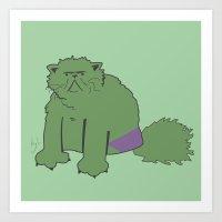 The Incatable Hulk Art Print