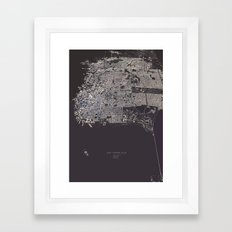 San Francisco City Map Framed Art Print