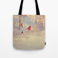 Winter Birds Tote Bag