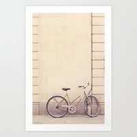 Beige bike Art Print