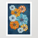 Marine flowers Art Print