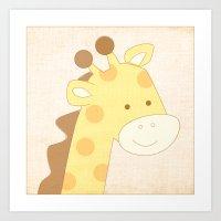 Giraffe Jungle Series Pr… Art Print
