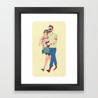 Vanitas Couple Framed Art Print