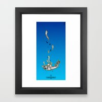 The Skydiving Mummy Framed Art Print
