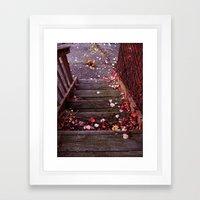 Autumn Stairs Framed Art Print