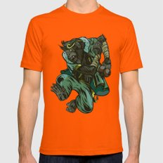 Monkey King Mens Fitted Tee Orange SMALL