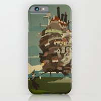 iPhone Cases featuring Moving Castle by The Art of Danny Haas