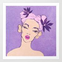 Selfie Girl_5 Art Print