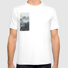 The spring of Absolute Valley Mens Fitted Tee SMALL White