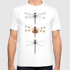 dragonfly collector SMALL Mens Fitted Tee White