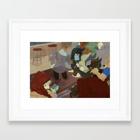 waiting for the moon to rise Framed Art Print