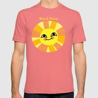 Rise and Shine! Mens Fitted Tee Pomegranate SMALL