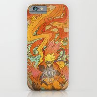 iPhone Cases featuring Woodblock Naruto by Sempaiko