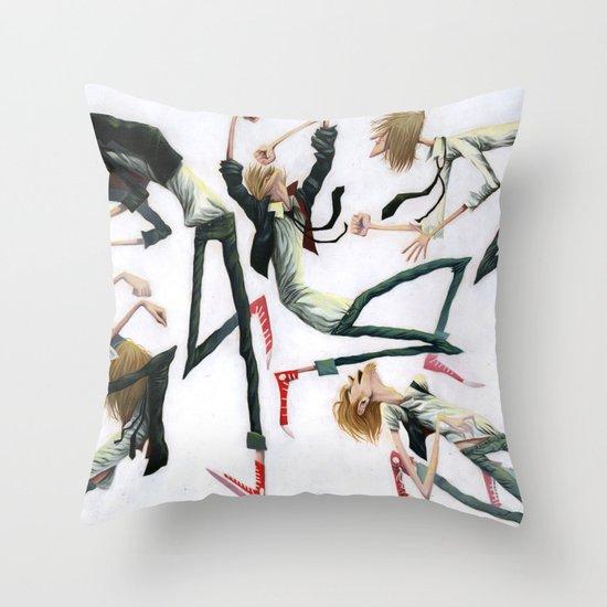 Dancing Dudes Throw Pillow