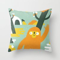 Mango Hunter Throw Pillow