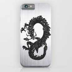Black Oriental Dragon on Silver iPhone 6 Slim Case