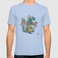 A Kobold in Dragon Clothing Mens Fitted Tee Athletic Blue SMALL
