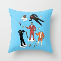 Cut It Out: Ron Burgundy Throw Pillow