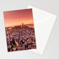 Manhattan in red Stationery Cards