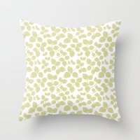 Modern Pinecone In Olive Throw Pillow
