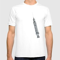 Mosquito Vaccinator Mens Fitted Tee White SMALL