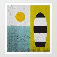 Sun & Board Art Print