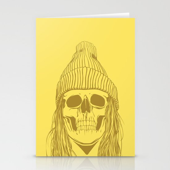 Skull Girl 3 Stationery Card