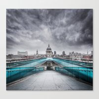 Millenium Bridge London Canvas Print