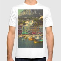 Capri, Italy Mens Fitted Tee White SMALL