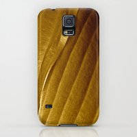 Galaxy S5 Cases featuring Gold Leaves by J.N.B.
