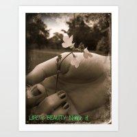Touching Beauty Art Print