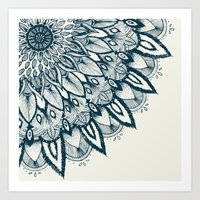 mandala Art Prints featuring Mandala by rskinner1122