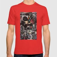 COLLAGE LOVE: How Do You… Mens Fitted Tee Red SMALL