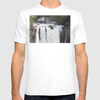 When Will It Fall? Mens Fitted Tee White SMALL