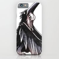 iPhone & iPod Case featuring Raven Girl by Caz Lock