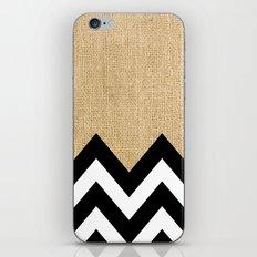 BURLAP BLOCK CHEVRON iPhone & iPod Skin