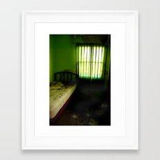 Abandoned Green Nunnery Room Framed Art Print