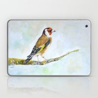 European Goldfinch On Tr… Laptop & iPad Skin