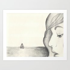 Away at Sea Art Print